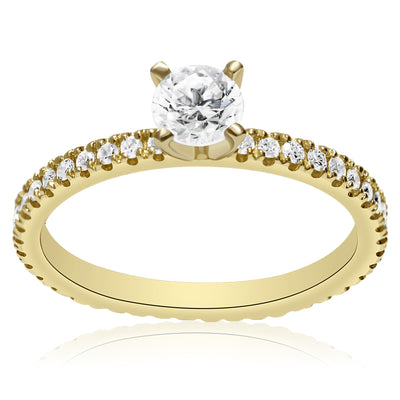 Skinny 4-Prong Engagement Ring - 2mm