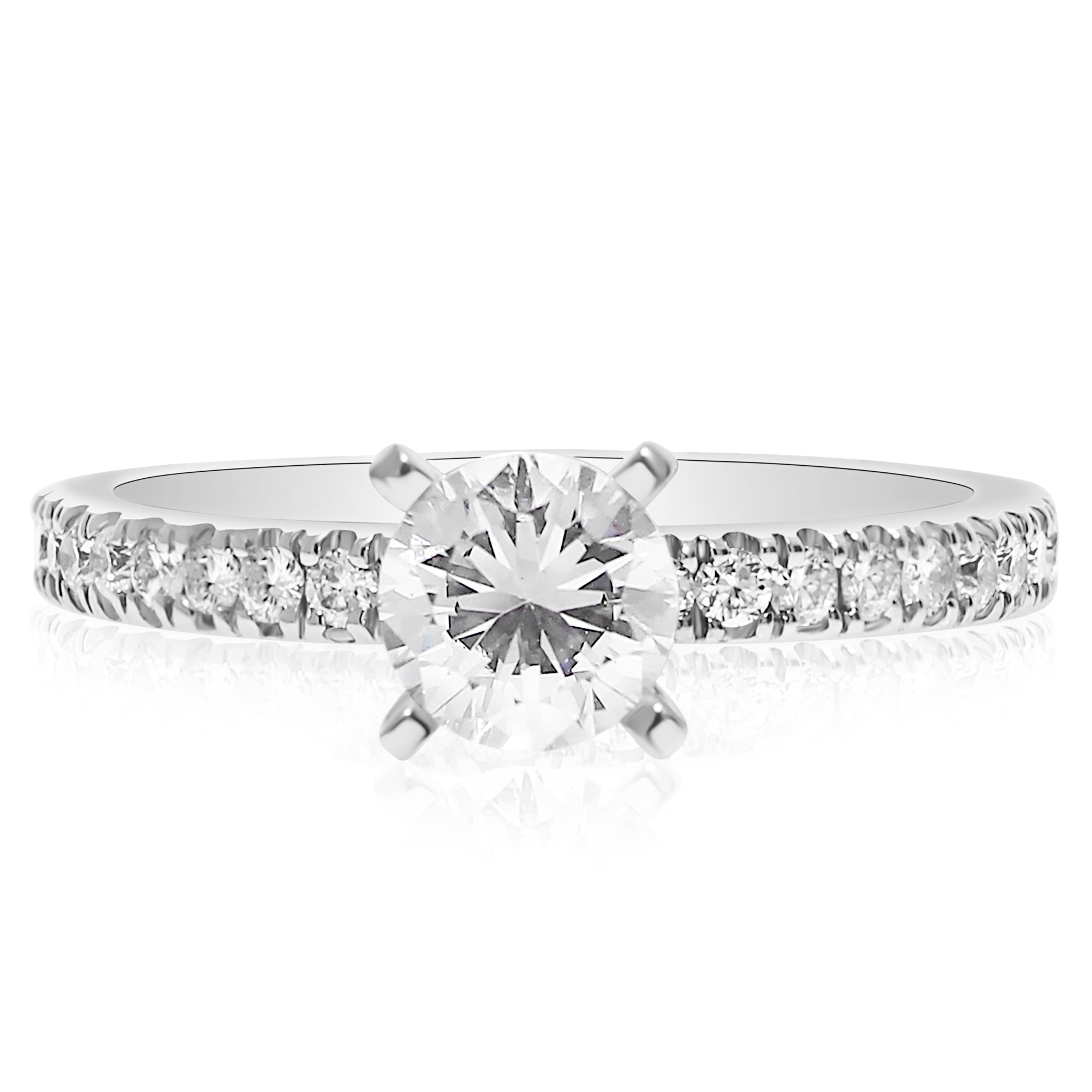 cut stone ht ring diamonds tst aw sides prong engagement rings round ct with