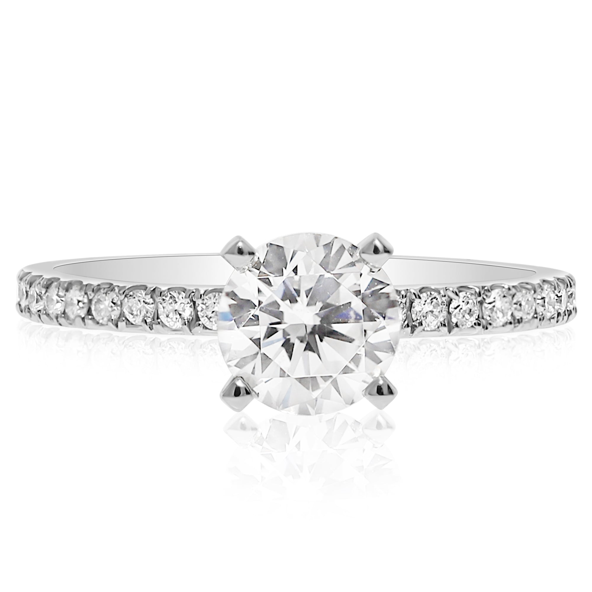 halo mounted white cushion waa ring p princess rings gold engagement mount diamond semi