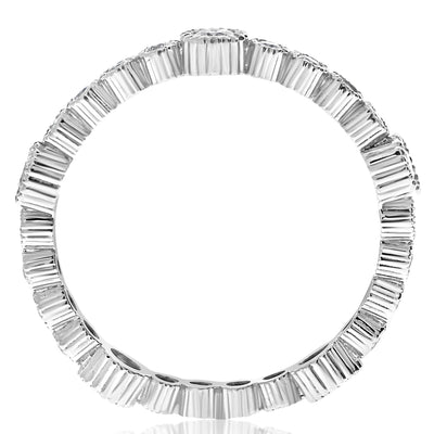Rippled Fluted Bezel Band - 0.55 CTW