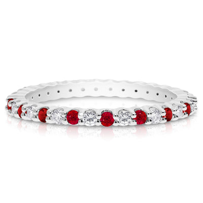 Birthstone and Diamond Band