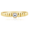 Rippled Promise Ring - 0.12 CTW