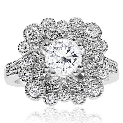 Fluted Bezel Pops Engagement Ring