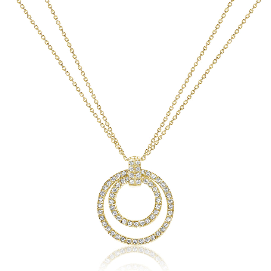 Circles Pendant with Doubled Cable Chain