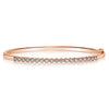 Fluted Bezel Bangle - 0.75 CTW