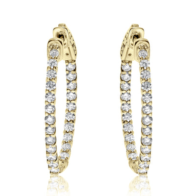 Lucida Set Diamond Hoops - Ovals With Lever Lock