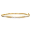 Bangle W Bead Set Diamonds in Textured Channel