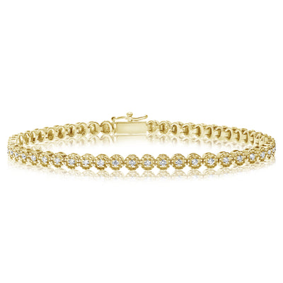 Illusion Halo Tennis Bracelet
