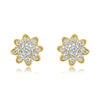 Two-Tone Flora Stud Earrings