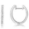 Diamond Hoops - Front Only - Ovals With Wire Lock