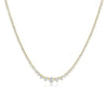 3 Prong Graduated Diamond Tennis Necklace - 5.00 CTW