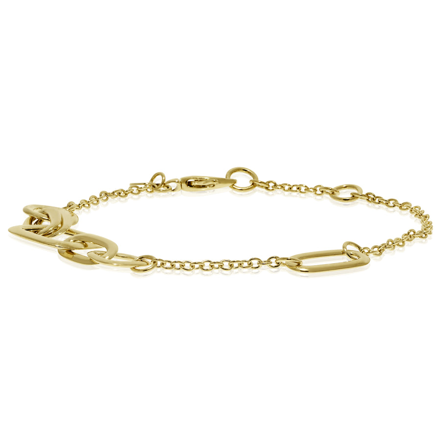 Gold Shapes Link Bracelet