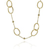 Gold Textured Wide Link Necklace