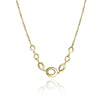 Gold Mod Link  with Double Chain Necklace