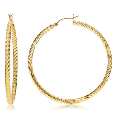 Gold Rope Hoops - Long and Thin
