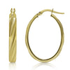 Mixed Texture Gold Twist Hoops