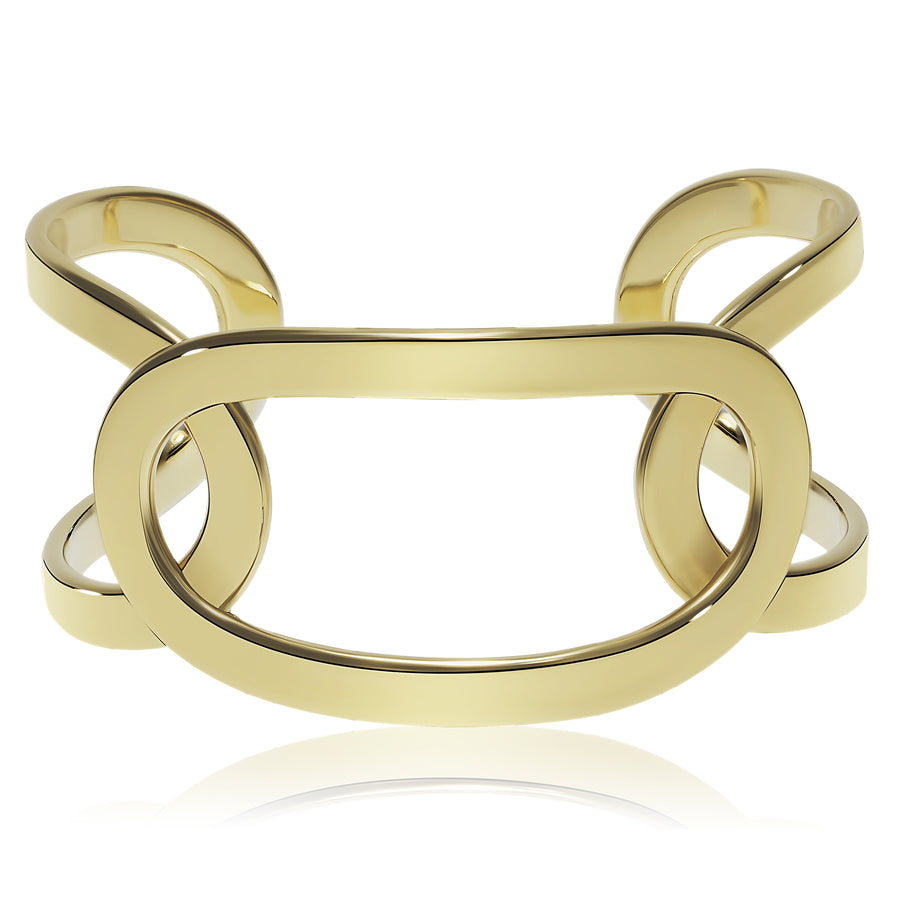 Gold Three Link Cuff