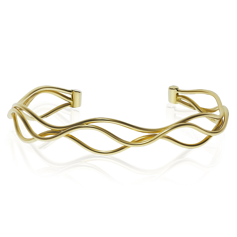 Small Gold Wave Cuff
