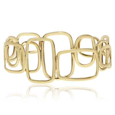 Gold A-Symmetric Shapes Cuff