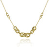 Gold Double Infinity Double Link Necklace