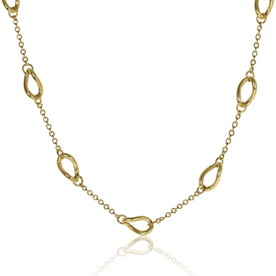 Gold Infinity Link Necklace