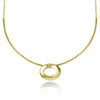 Gold Oval Pendant Collar