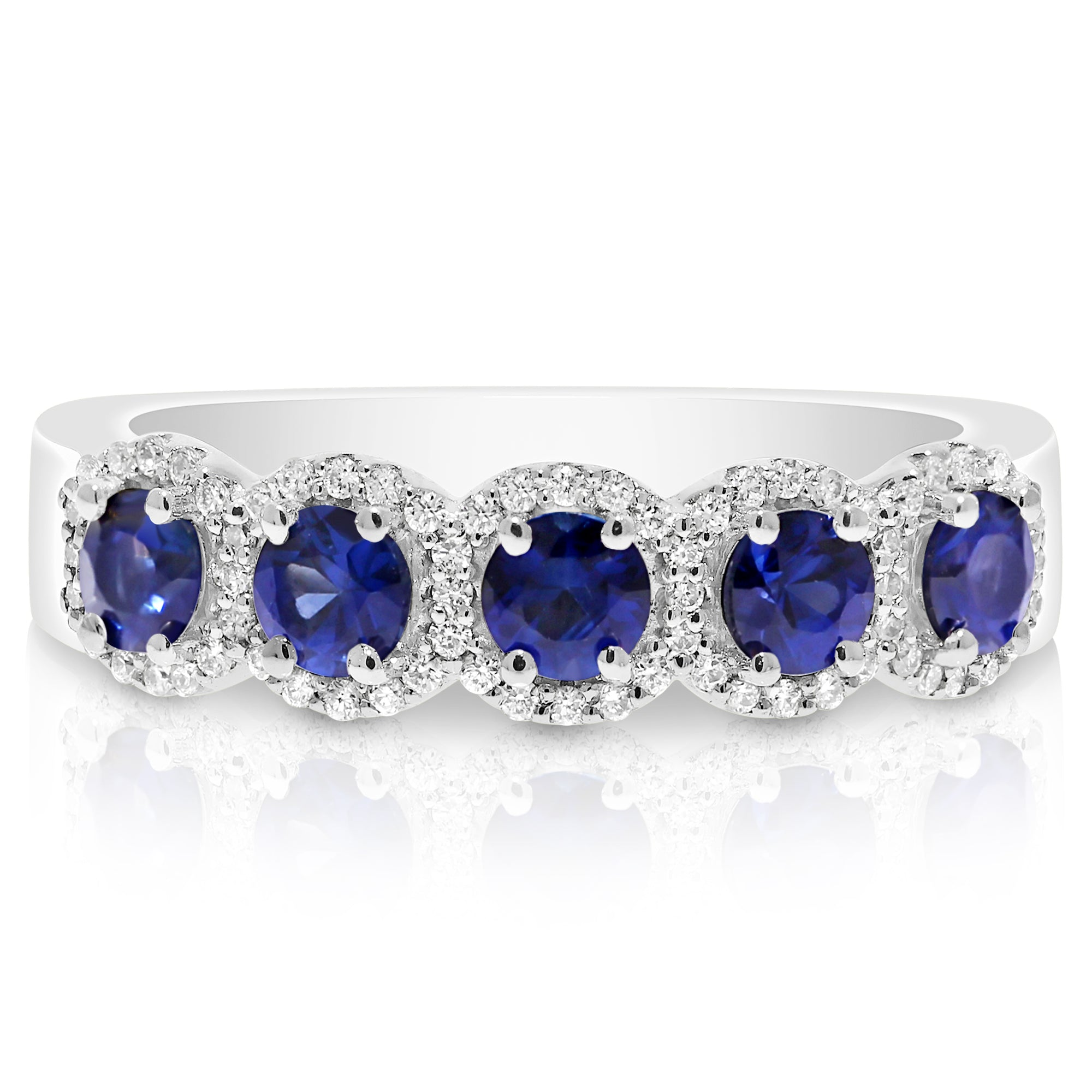 jewelers blue ring halo engagement gold rings sapphire arnold product colored