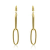 Gold Oval Link Drop Earrings