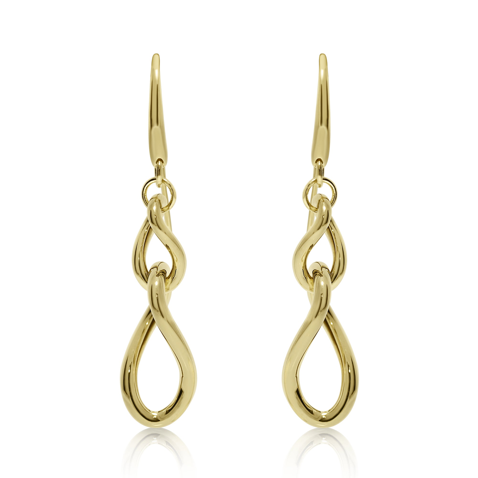 on stud gold infinity product cubic luulla original in zirconia earrings with rhinestone