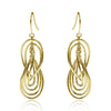 Gold Rippled Figure-Eight Drop Earrings