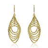 Gold Rippled Texture Drop Earrings