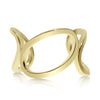 Three Oval Links Gold Ring