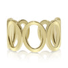 Seven Circle Links Gold Ring