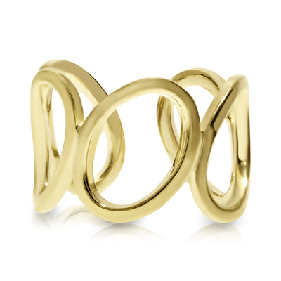 Five Oval Links Gold Ring