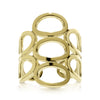 Oval Hive Gold Ring