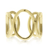 Five Circle Links Gold Ring