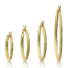 Basic Twisted Circle Hoops