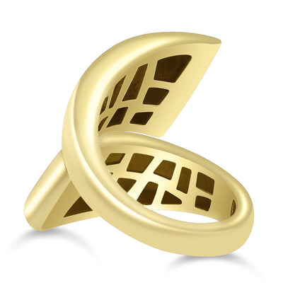 Bayalage Double Thick Bypass Gold Ring