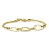 Gold Three Flat Oval Link Bracelet