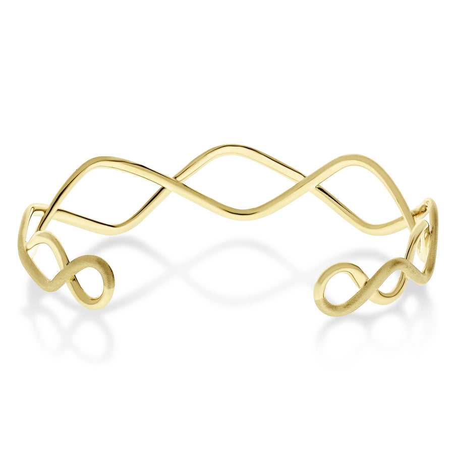Gold Sound Wave Cuff