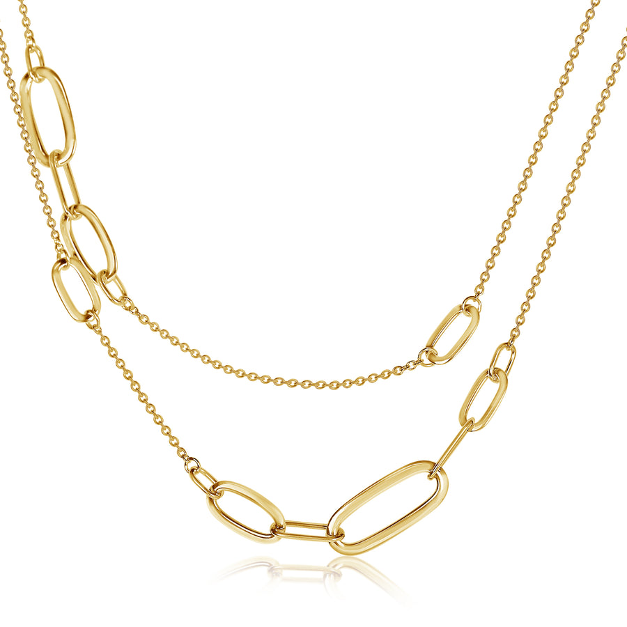 "Oval Link 34"" Necklace"