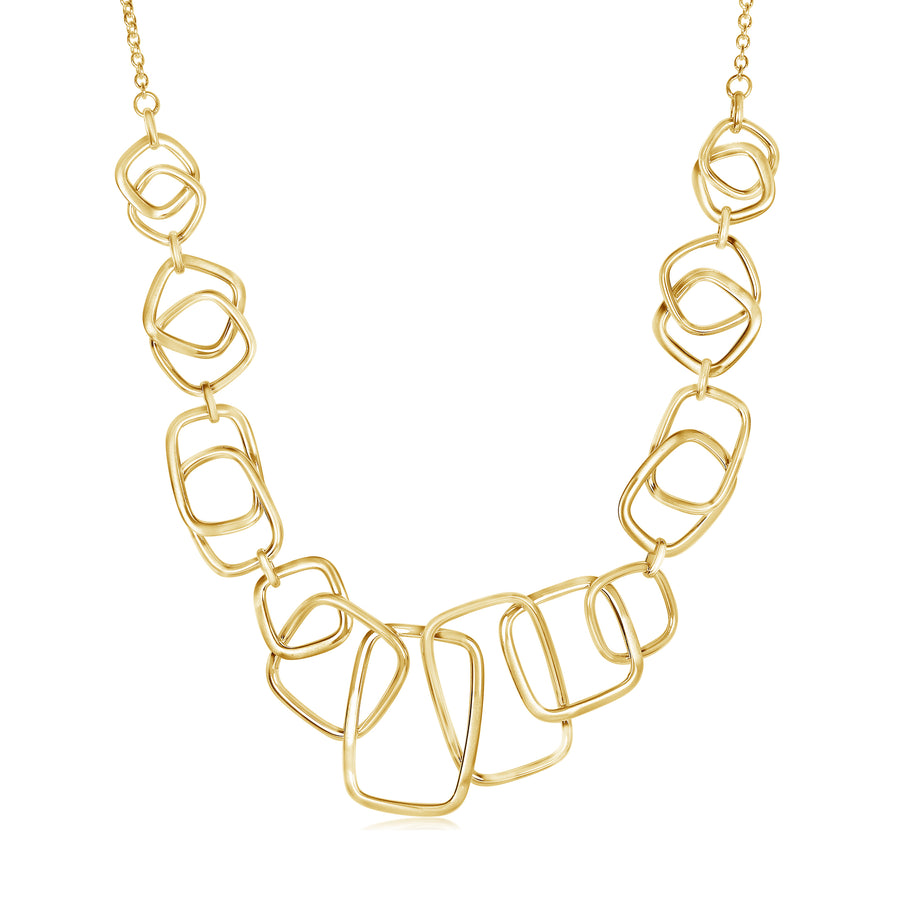 Gold A-Symmetric Shapes Necklace