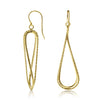 Gold Twisted Tear Drop Earrings