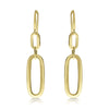 Gold Graduated Chunky Cable Link Drop Earrings