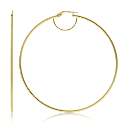 Basic Circle Half Moon Hoops