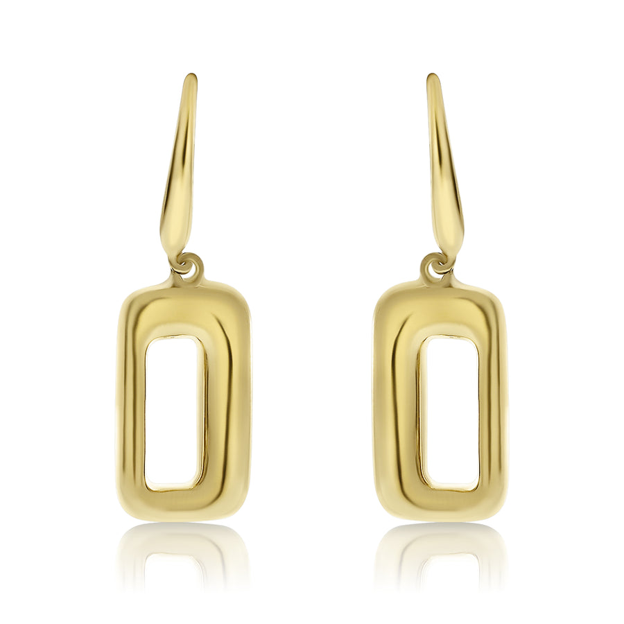 Gold Mod Drop Earrings