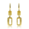 Gold Mixed Texture Mod Drop Earrings