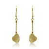 Gold  Chunky Chain Leaf Drop Stud Earrings