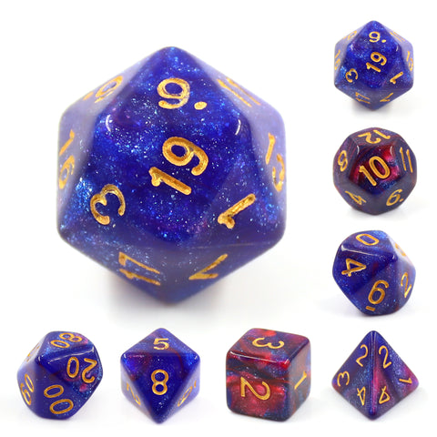 Midnight Galaxy Dice Set
