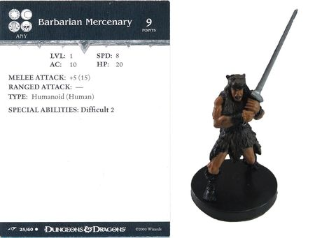 Barbarian Mercenary #25 Dragoneye D&D Miniatures